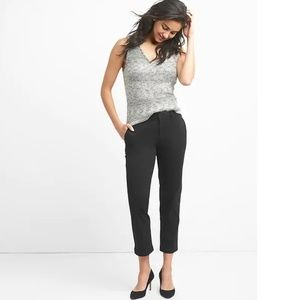 NWT Gap Slim City Crop Pants 12P Black v347